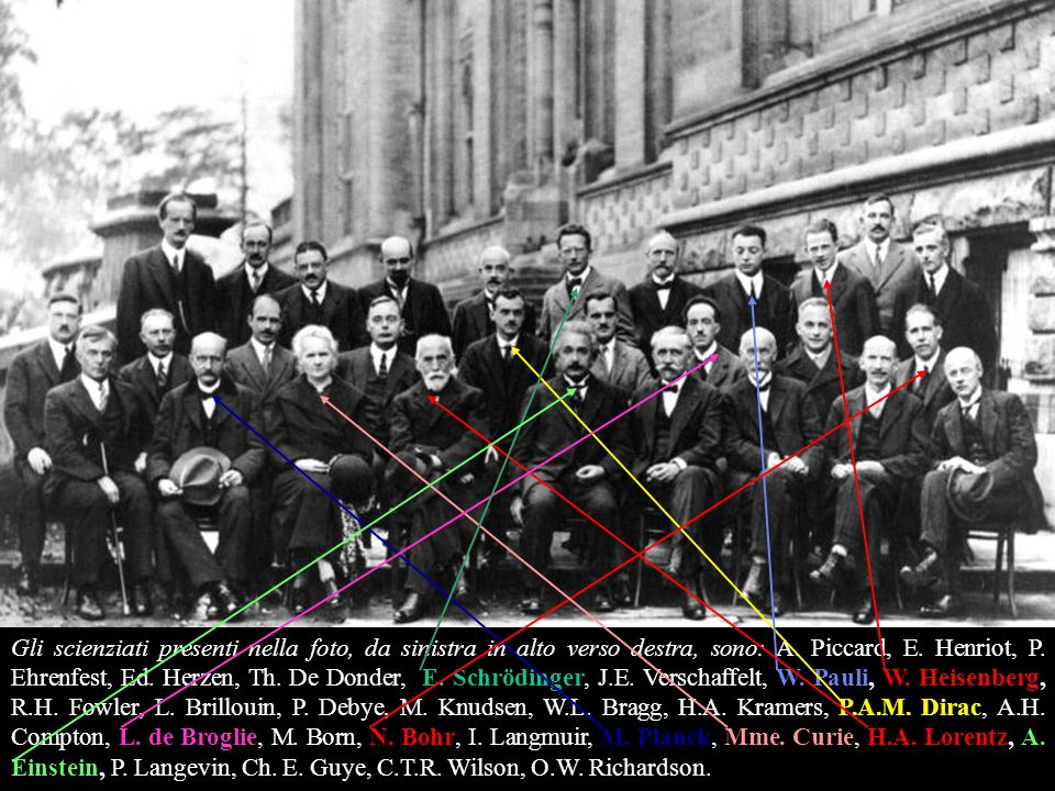 Fifth conference participants, 1927 - The International Solvay Institutes for Physics and Chemistry. Capita raramente di veder riuniti assieme molte p