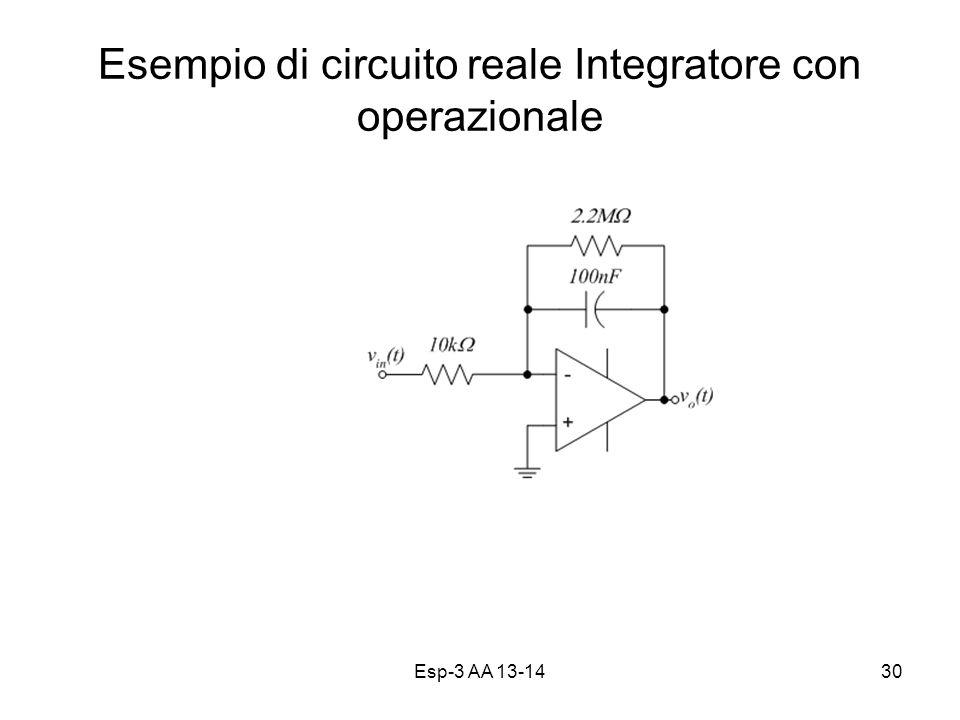 Esp-3 AA 13-1430 Esempio di circuito reale Integratore con operazionale