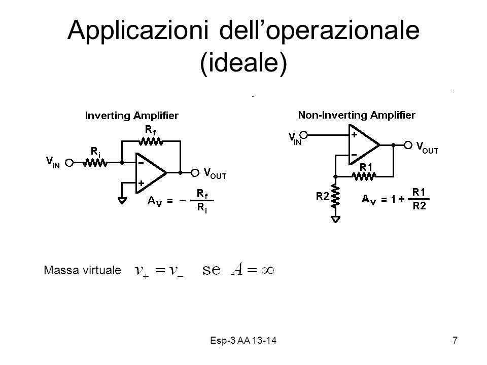 Esp-3 AA 13-147 Applicazioni delloperazionale (ideale) Massa virtuale