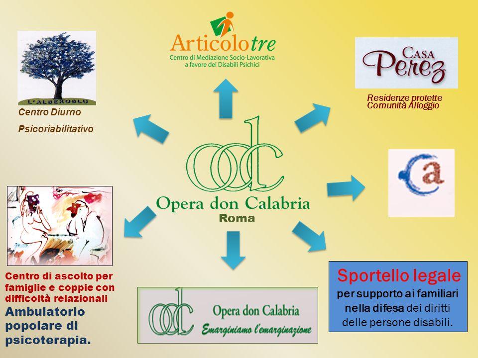 Residenze protette Comunità Alloggio Roma Sportello legale per supporto ai familiari nella difesa dei diritti delle persone disabili. Centro di ascolt