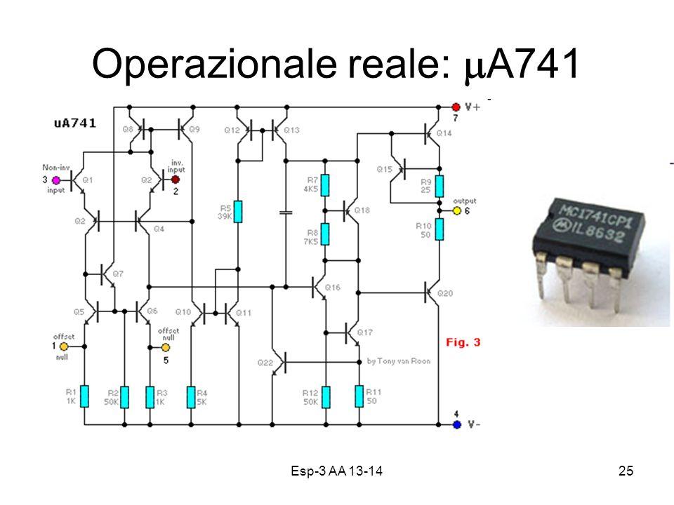 Esp-3 AA 13-1425 Operazionale reale: A741