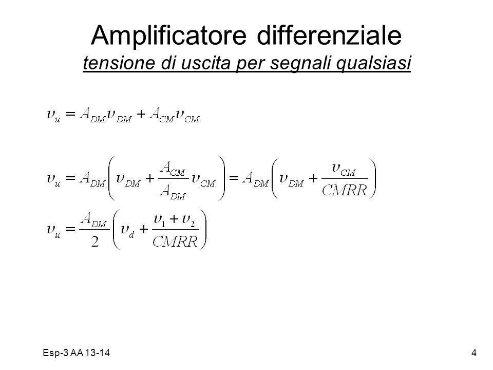Esp-3 AA 13-144 Amplificatore differenziale tensione di uscita per segnali qualsiasi