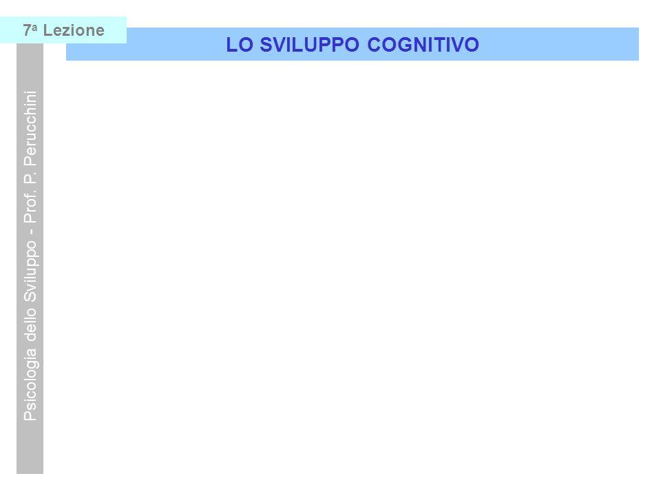 LO SVILUPPO COGNITIVO Psicologia dello Sviluppo - Prof. P. Perucchini 7 a Lezione