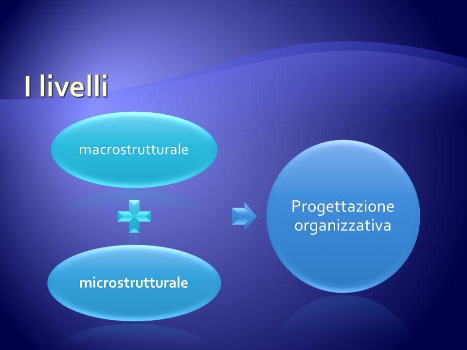 macrostrutturalemicrostrutturale Progettazione organizzativa