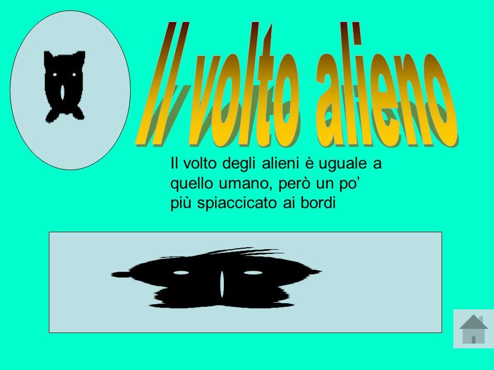 Il volto degli alieni è uguale a quello umano, però un po più spiaccicato ai bordi