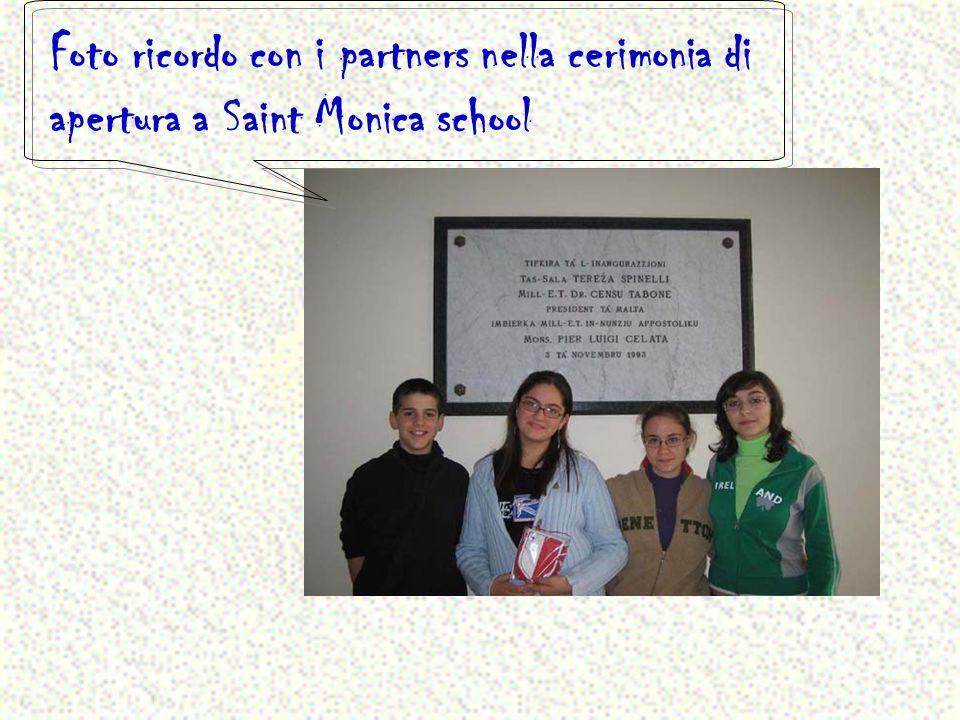 A Mdina con i partners ospitanti