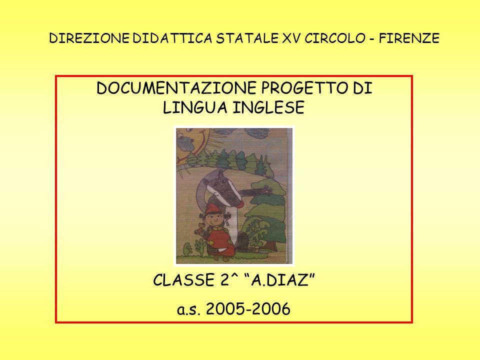 DOCUMENTAZIONE PROGETTO DI LINGUA INGLESE CLASSE 2^ A.DIAZ a.s.