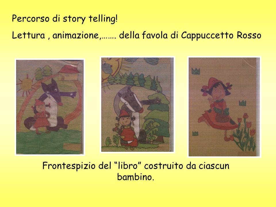 Percorso di story telling.Lettura, animazione,…….