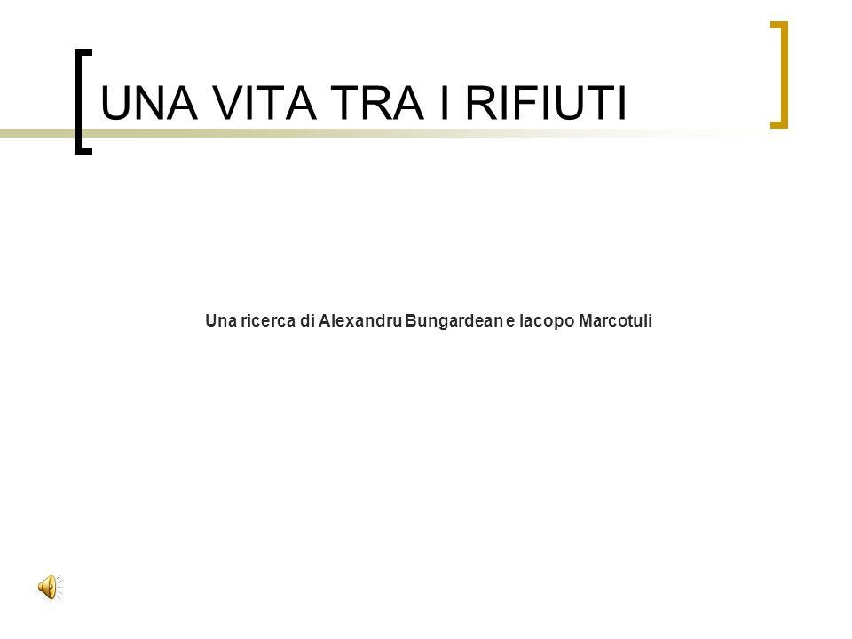 UNA VITA TRA I RIFIUTI Una ricerca di Alexandru Bungardean e Iacopo Marcotuli