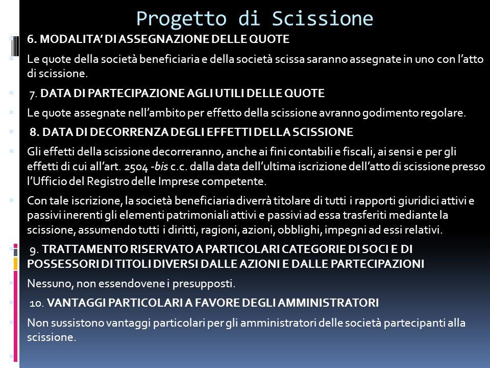 Progetto di Scissione 6.