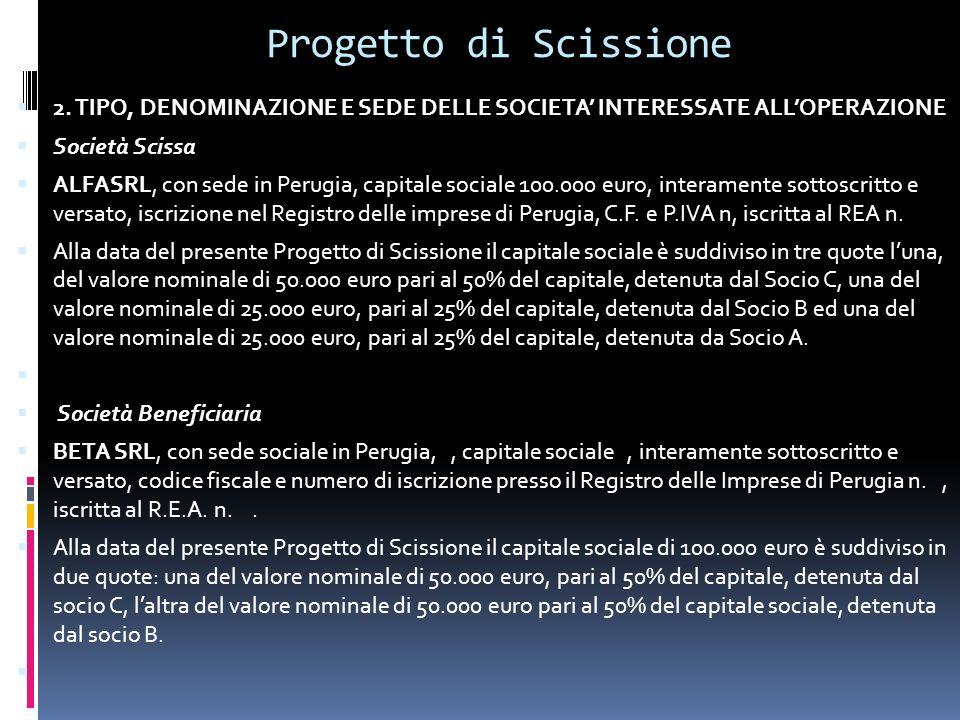 Progetto di Scissione 2.