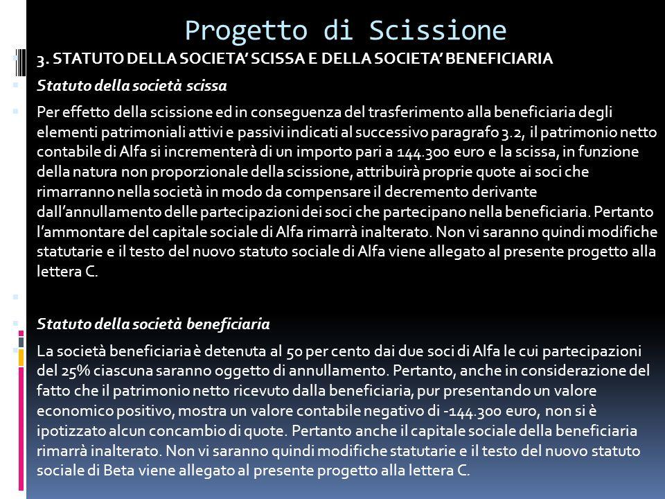 Progetto di Scissione 3.