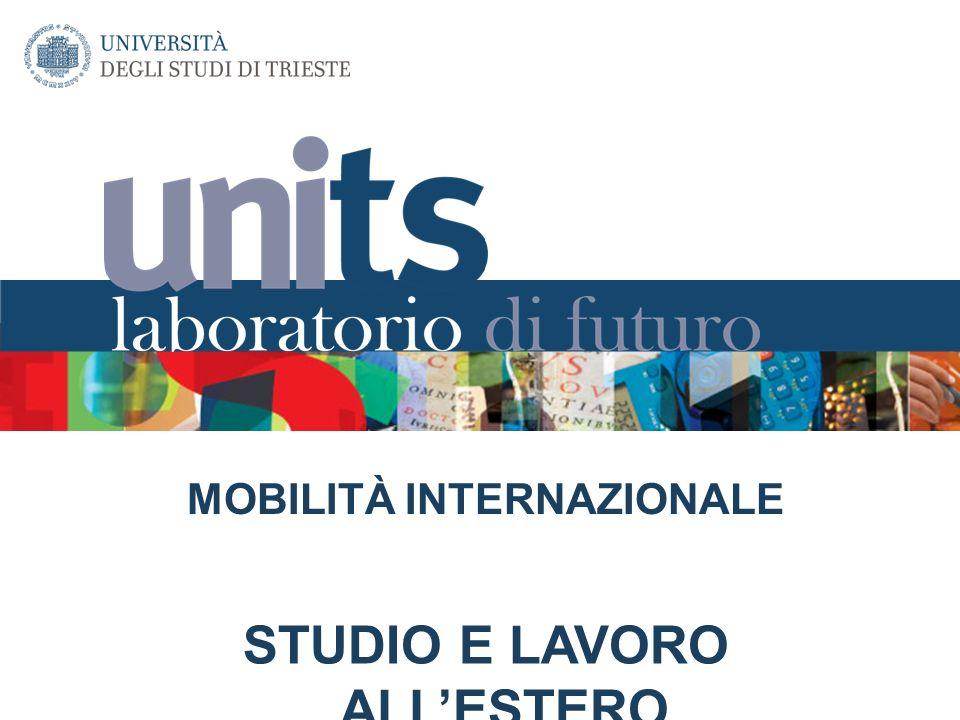 MOBILITÀ INTERNAZIONALE STUDIO E LAVORO ALLESTERO