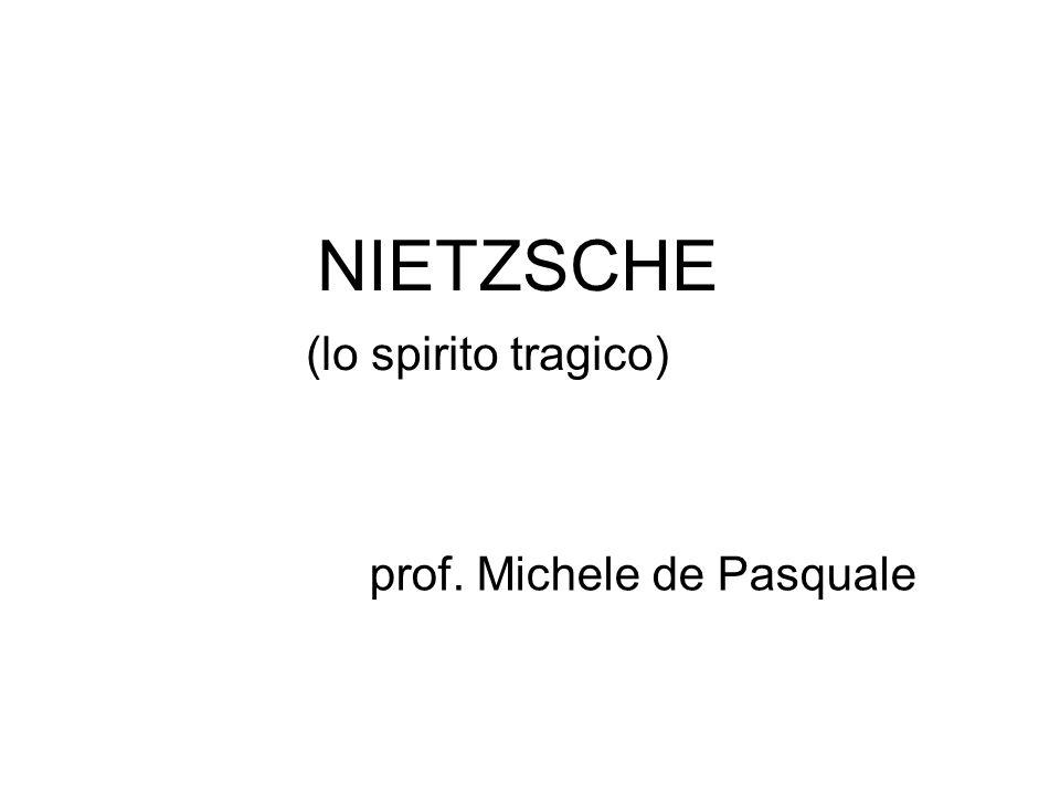 NIETZSCHE (lo spirito tragico) prof. Michele de Pasquale