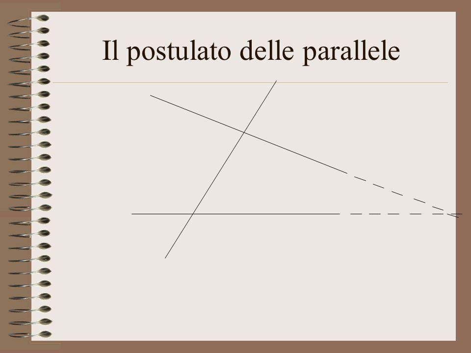 Il postulato delle parallele