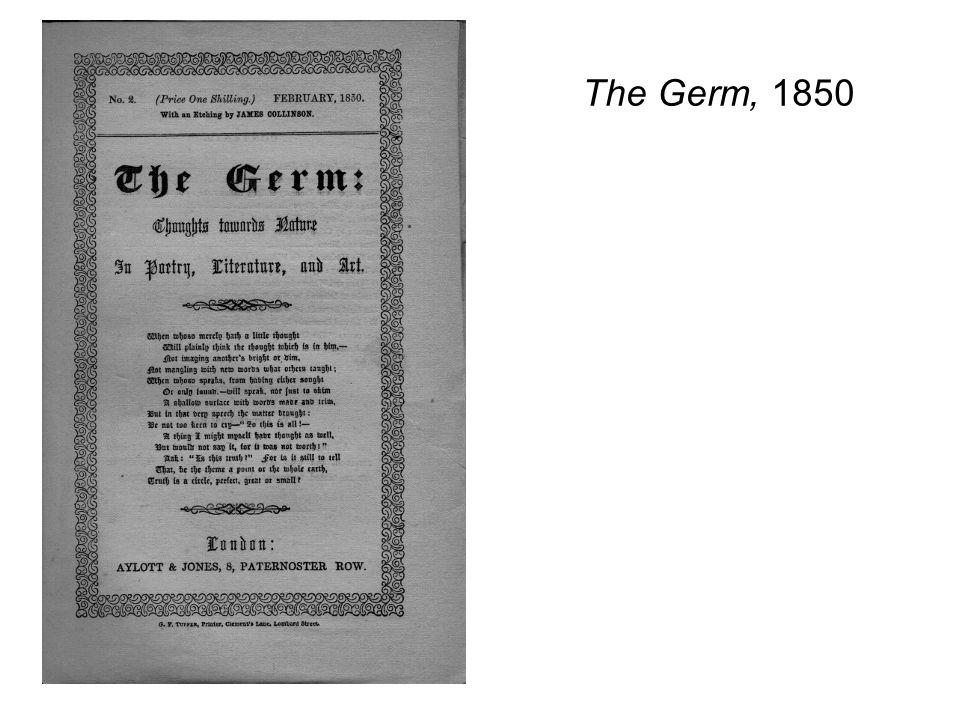 The Germ, 1850