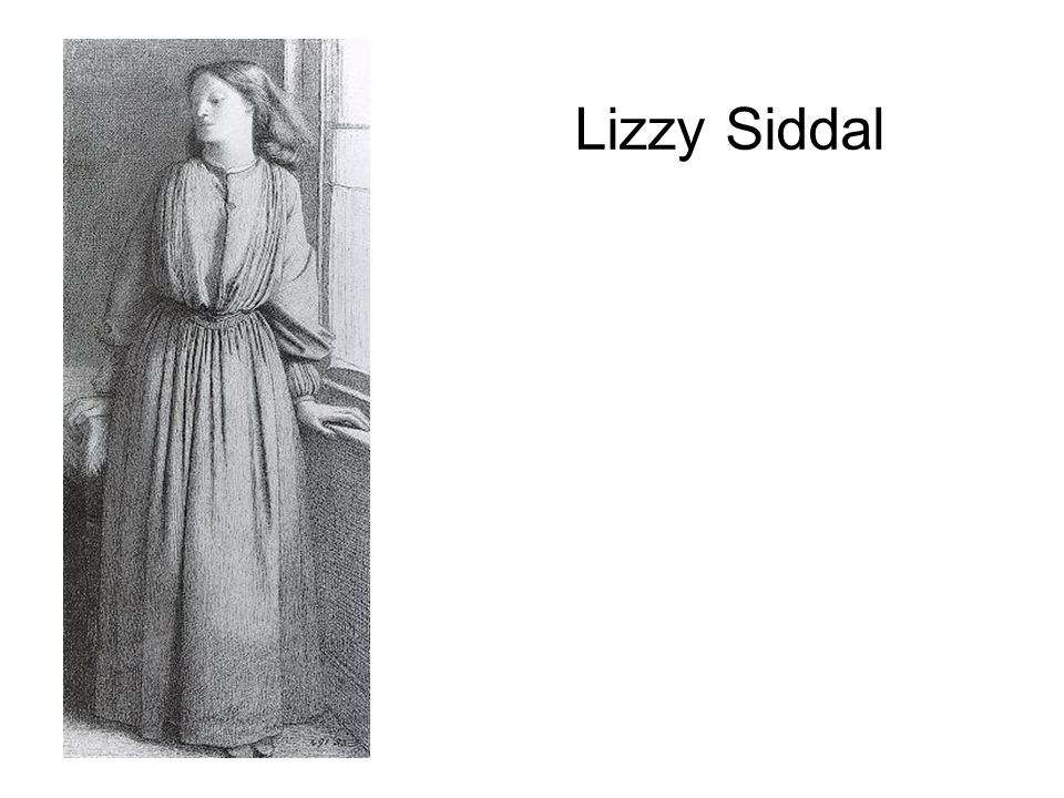Lizzy Siddal plaiting her hair