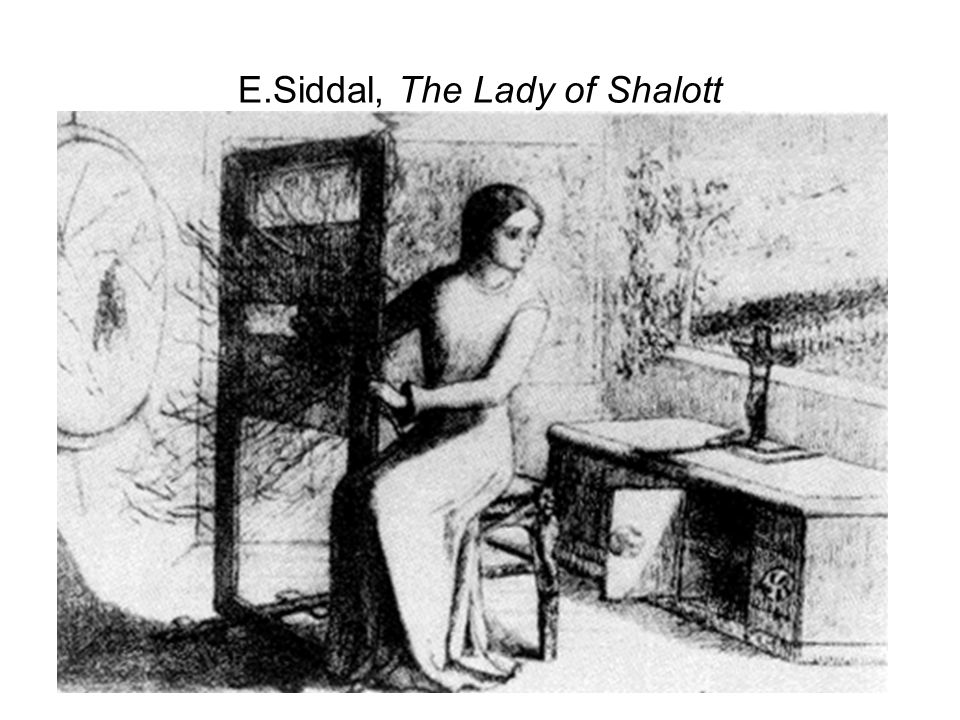 E.Siddal, The Lady of Shalott