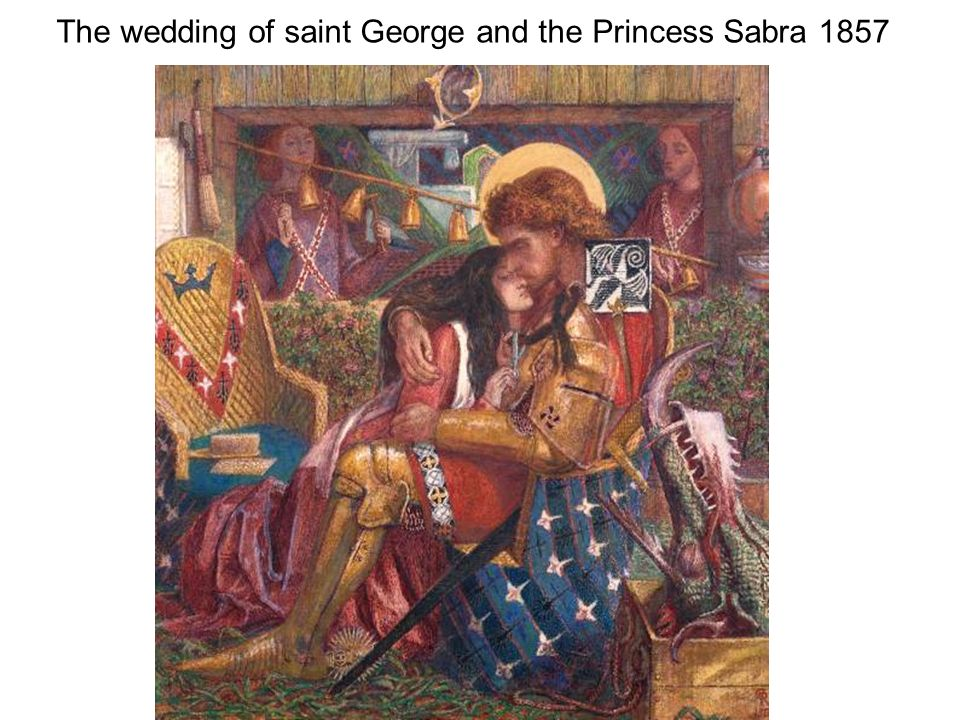 The wedding of saint George and the Princess Sabra 1857