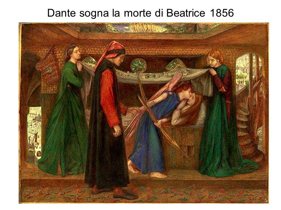 Dante sogna la morte di Beatrice 1856