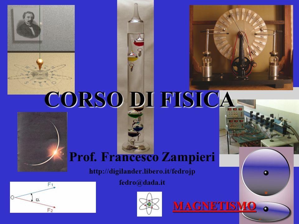 CORSO DI FISICA Prof. Francesco Zampieri http://digilander.libero.it/fedrojp fedro@dada.it MAGNETISMO