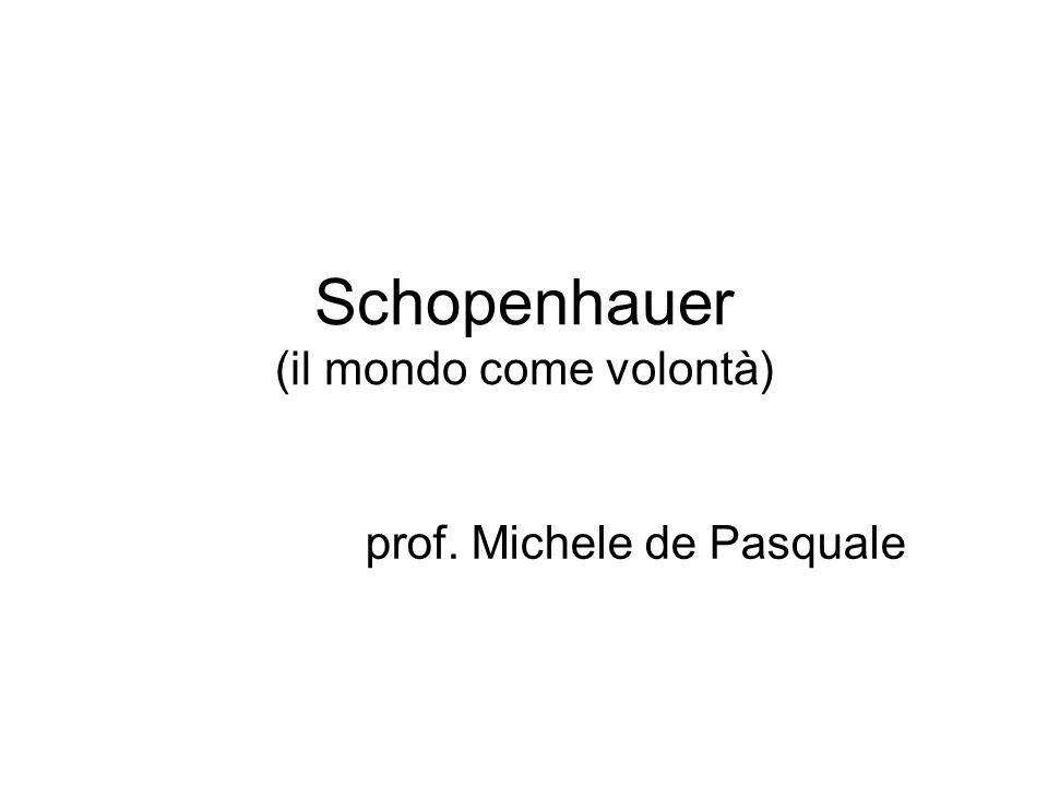 Schopenhauer (il mondo come volontà) prof. Michele de Pasquale