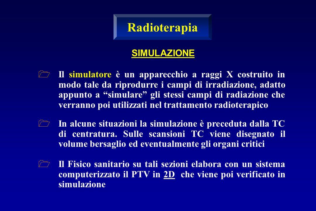 SIMULAZIONE Il simulatore è un apparecchio a raggi X costruito in modo tale da riprodurre i campi di irradiazione, adatto appunto a simulare gli stess