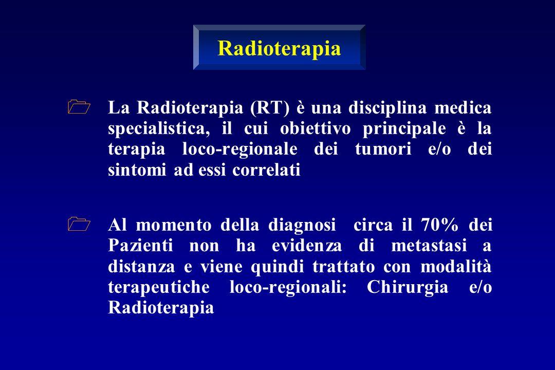 La Radioterapia (RT) è una disciplina medica specialistica, il cui obiettivo principale è la terapia loco-regionale dei tumori e/o dei sintomi ad essi