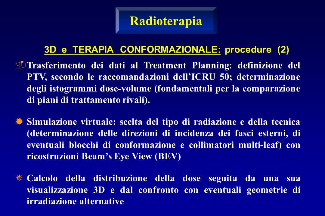 Trasferimento dei dati al Treatment Planning: definizione del PTV, secondo le raccomandazioni dellICRU 50; determinazione degli istogrammi dose-volum