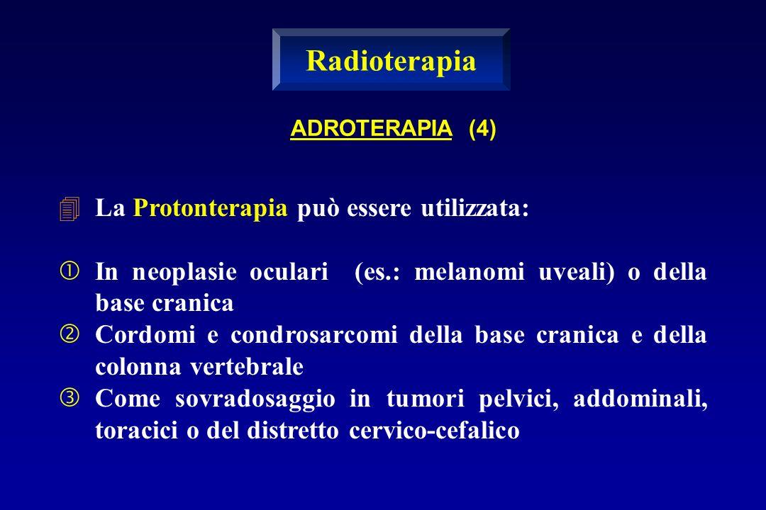 La Protonterapia può essere utilizzata: In neoplasie oculari (es.: melanomi uveali) o della base cranica Cordomi e condrosarcomi della base cranica e
