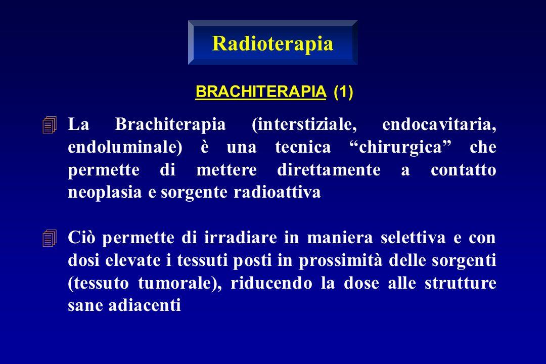 BRACHITERAPIA (1) La Brachiterapia (interstiziale, endocavitaria, endoluminale) è una tecnica chirurgica che permette di mettere direttamente a contat