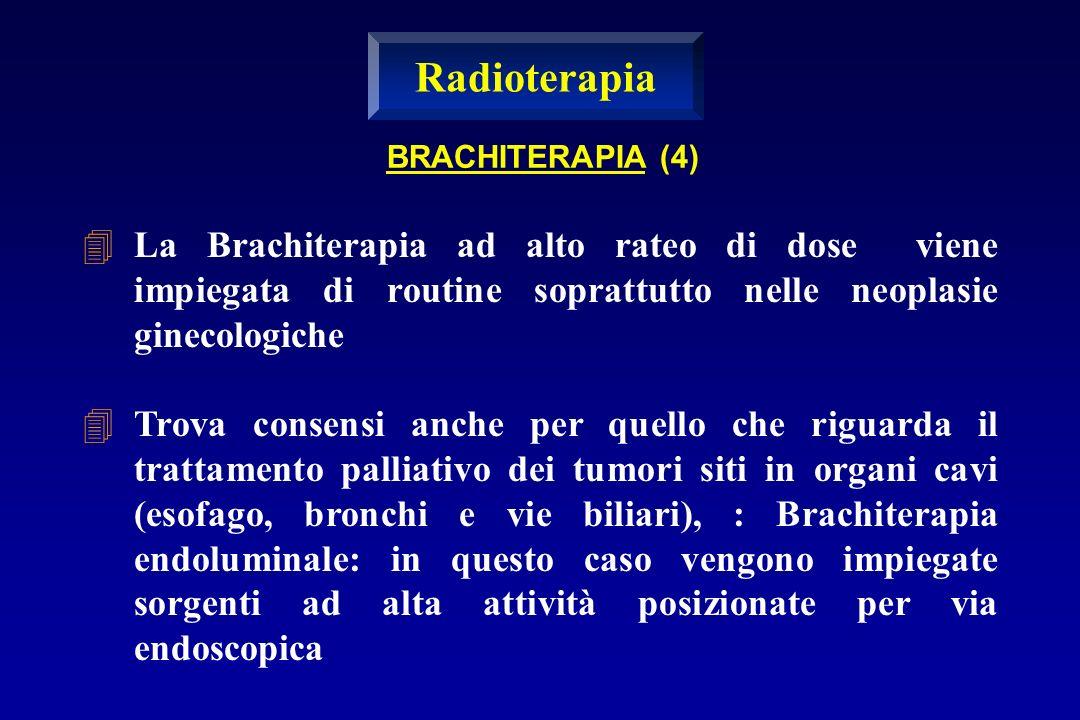 La Brachiterapia ad alto rateo di dose viene impiegata di routine soprattutto nelle neoplasie ginecologiche Trova consensi anche per quello che riguar
