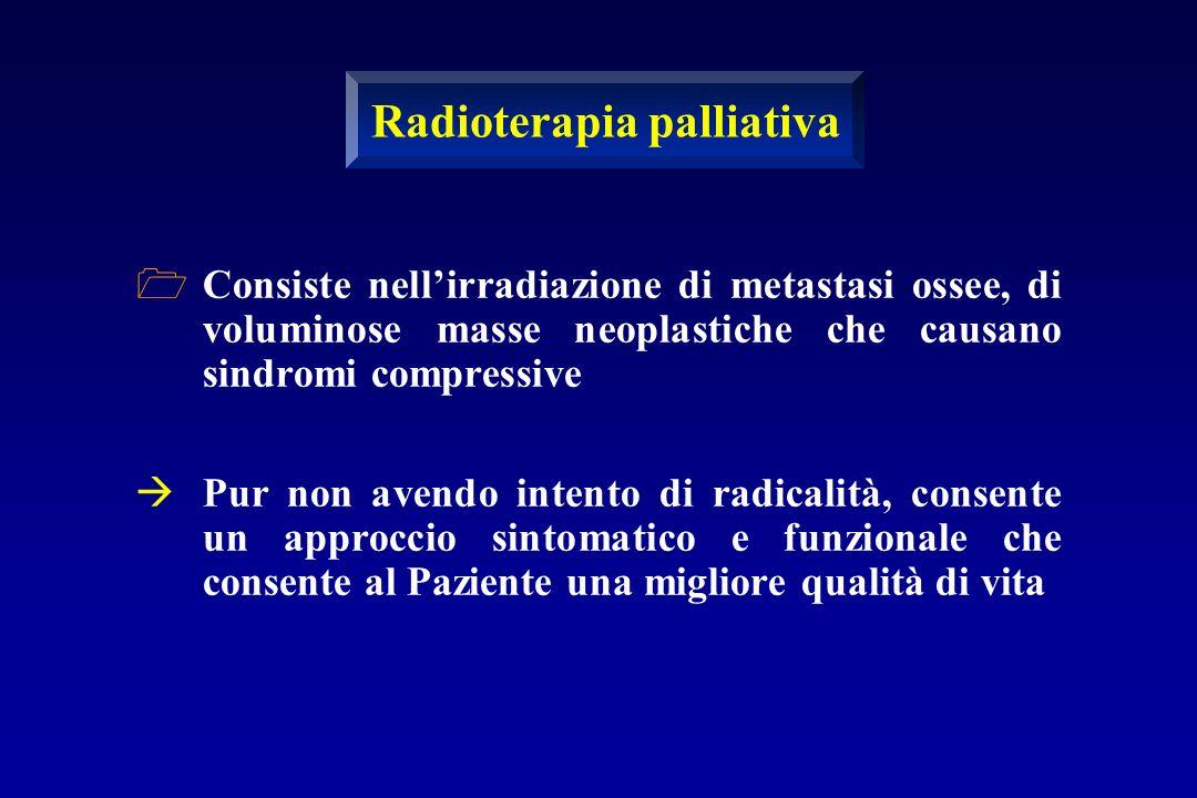 Consiste nellirradiazione di metastasi ossee, di voluminose masse neoplastiche che causano sindromi compressive Pur non avendo intento di radicalità,