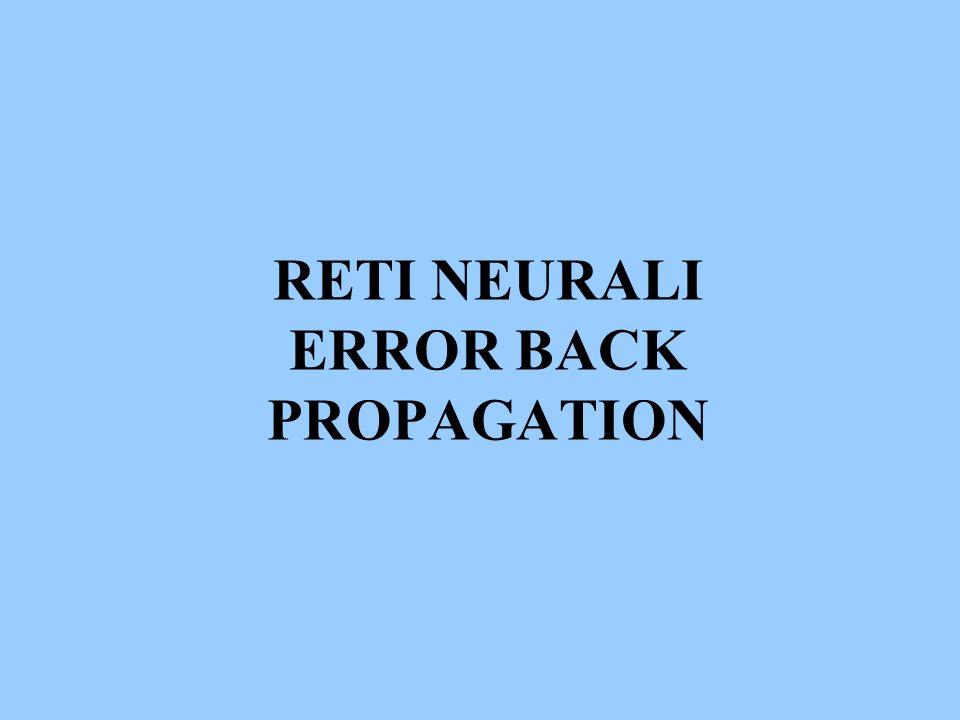 RETI NEURALI ERROR BACK PROPAGATION