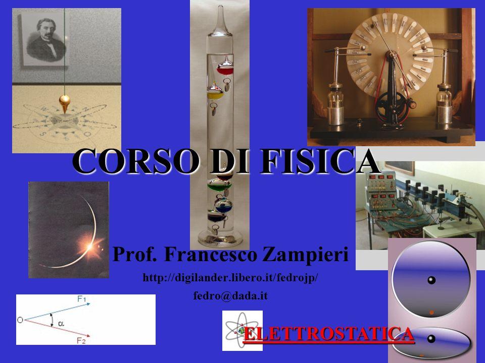 CORSO DI FISICA Prof. Francesco Zampieri http://digilander.libero.it/fedrojp/ fedro@dada.it ELETTROSTATICA