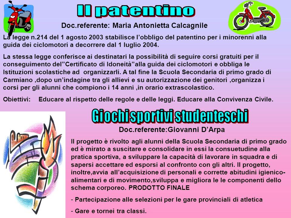 La legge n.214 del 1 agosto 2003 stabilisce lobbligo del patentino per i minorenni alla guida dei ciclomotori a decorrere dal 1 luglio 2004. La stessa