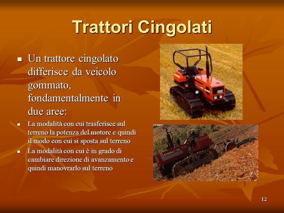 11 La trazione Integrale Un trattore è in grado di esercitare uno sforzo di trazione pari al peso che grava sugli organi che trasmettono la potenza al