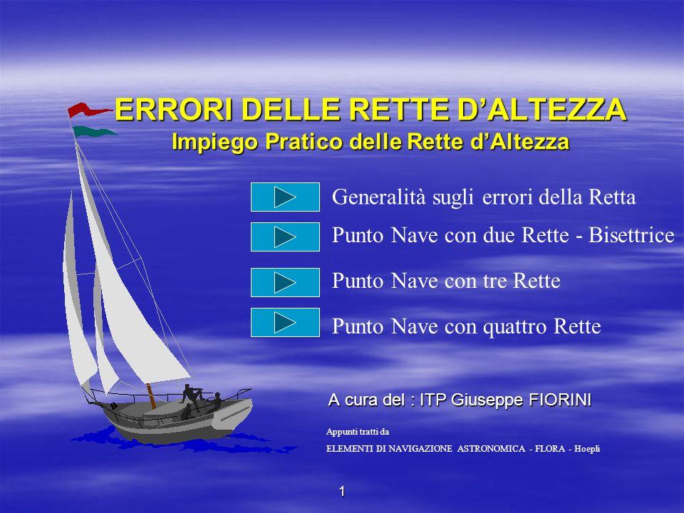 1° caso - Errore accidentale a > s errore sistematico Lerrore totale sulla prima retta sia 1 e sulla seconda retta sia 2.