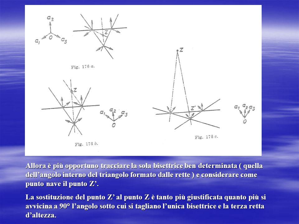 Allora è più opportuno tracciare la sola bisettrice ben determinata ( quella dellangolo interno del triangolo formato dalle rette ) e considerare come