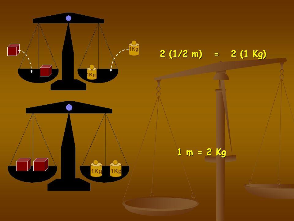 1/2 m = 1 Kg 1Kg 2 (1/2 m) = 2 (1 Kg)
