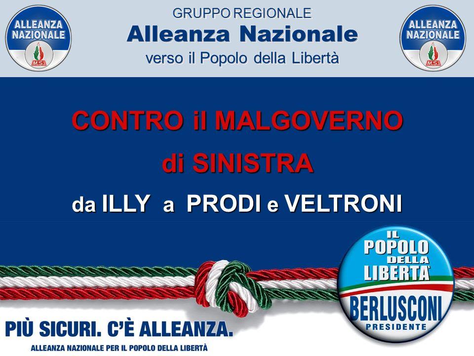 GRUPPO REGIONALE Alleanza Nazionale verso il Popolo della Libertà CONTRO il MALGOVERNO di SINISTRA da ILLY a PRODI e VELTRONI