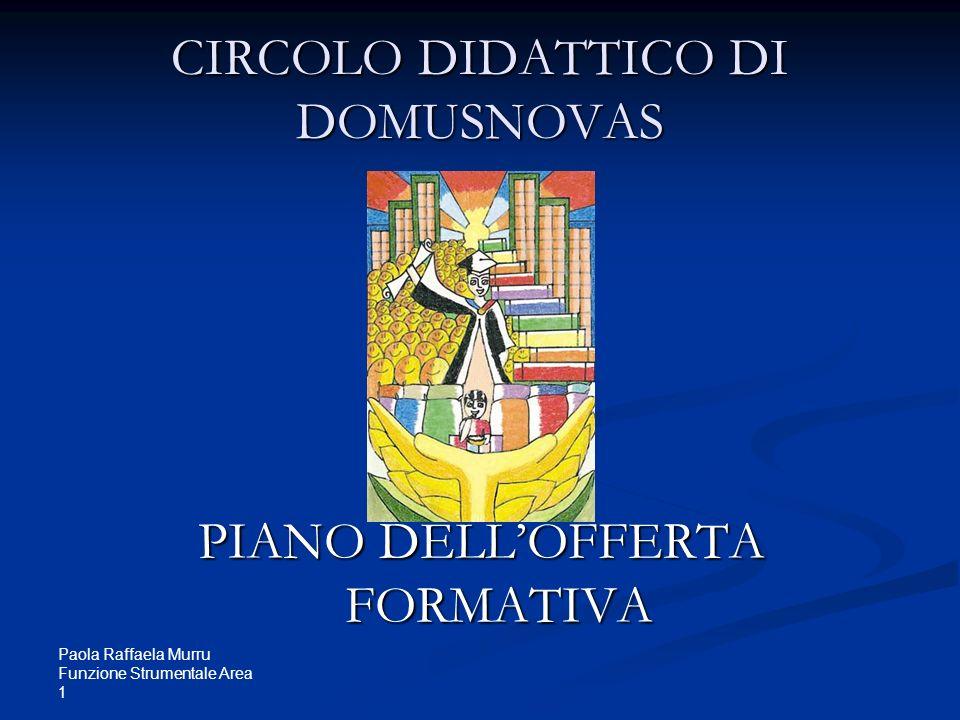 Paola Raffaela Murru Funzione Strumentale Area 1 CIRCOLO DIDATTICO DI DOMUSNOVAS PIANO DELLOFFERTA FORMATIVA
