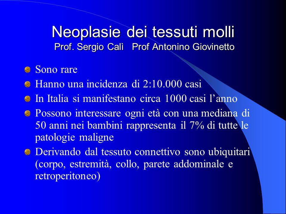 Neoplasie dei tessuti molli Prof.