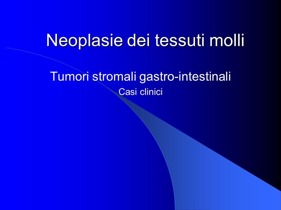 Sede di insorgenza dei GISTs Stomaco 60% Piccolo intestino 30% Rimanenti tratti 10%