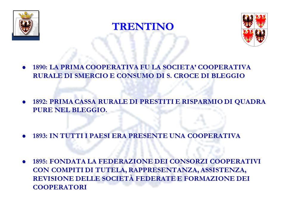 15 1890: LA PRIMA COOPERATIVA FU LA SOCIETA COOPERATIVA RURALE DI SMERCIO E CONSUMO DI S.