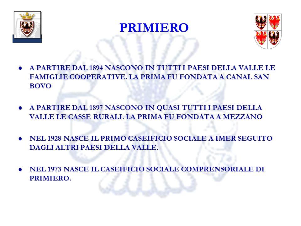 17 PRIMIERO A PARTIRE DAL 1894 NASCONO IN TUTTI I PAESI DELLA VALLE LE FAMIGLIE COOPERATIVE.