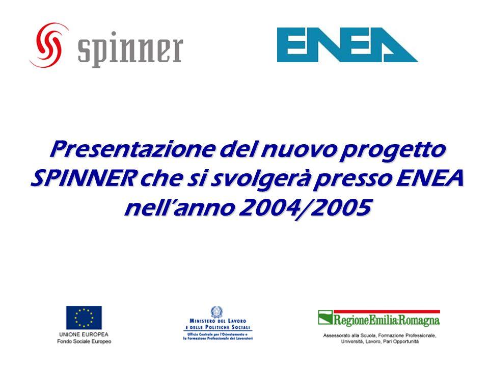 Presentazione del nuovo progetto SPINNER che si svolgerà presso ENEA nellanno 2004/2005