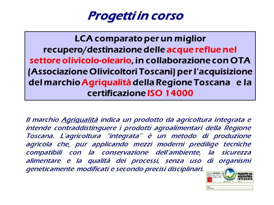 Progetti in corso Il marchio Agriqualità indica un prodotto da agricoltura integrata e intende contraddistinguere i prodotti agroalimentari della Regi