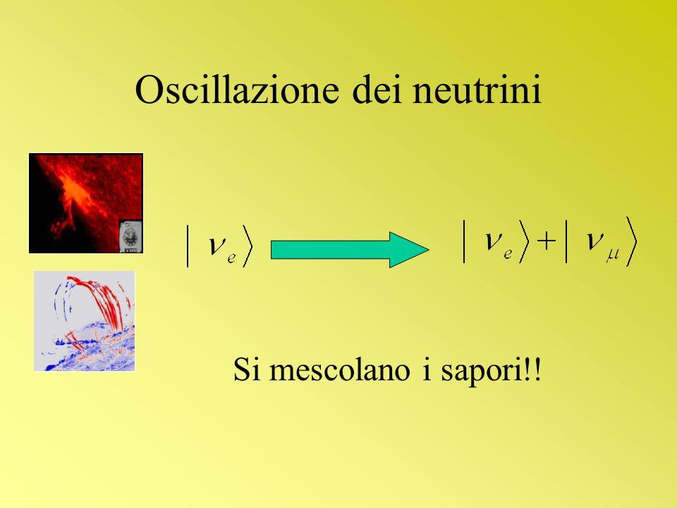 Oscillazione dei neutrini Si mescolano i sapori!!