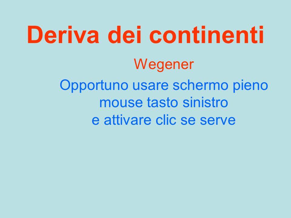 Deriva dei continenti Wegener Opportuno usare schermo pieno mouse tasto sinistro e attivare clic se serve
